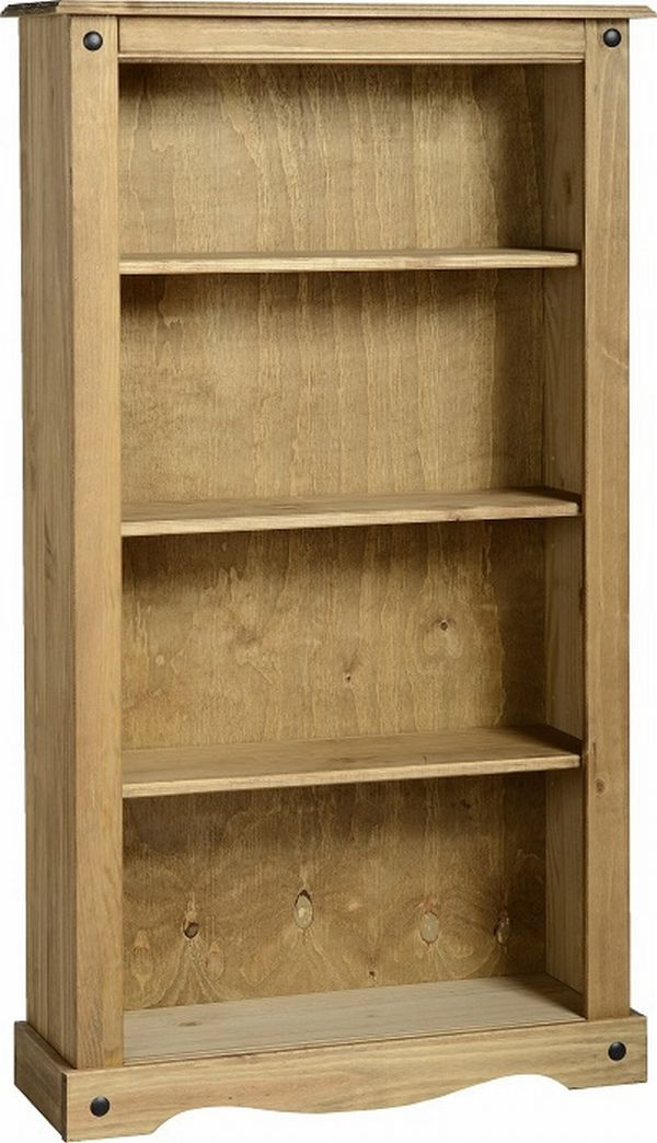 Corona Medium Bookcase Mexican Pine Corona Occasional Mexican Pine Furniture For