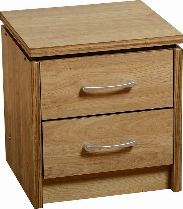 Charles Oak 2 Drawer Bedside Chest Bedroom