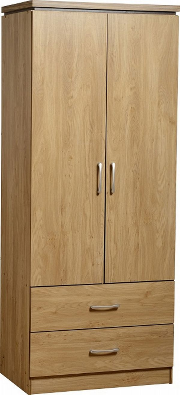 Charles Oak 2 Door 2 Drawer Wardrobe 163 119 00 Bedroom