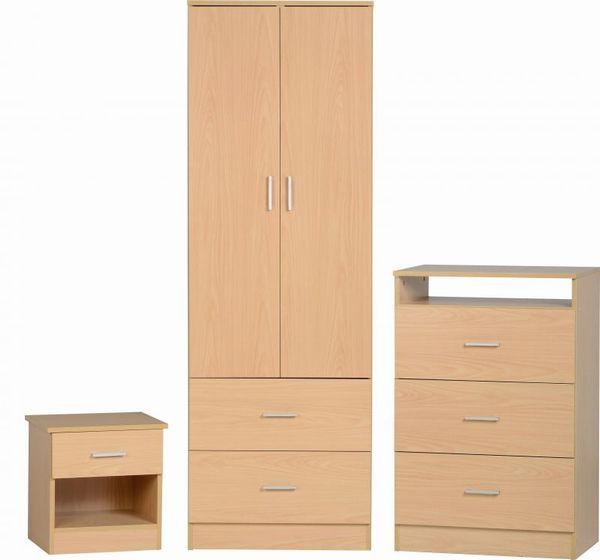 Polar beech bedroom set bedroom bedroom sets for Beech bedroom furniture
