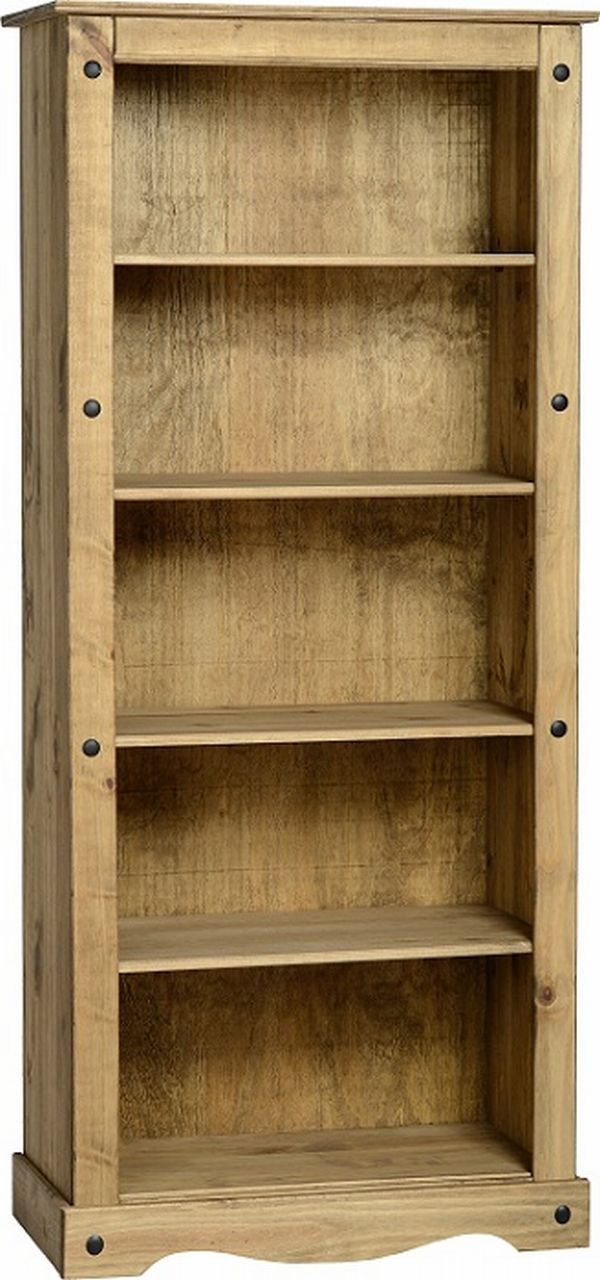 Corona Tall Bookcase Mexican Pine Corona Occasional Mexican Pine Furniture For