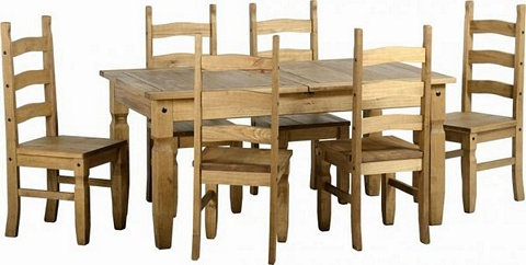 Corona Extending Dining Table U0026 6 Chairs £318.00   .Mexican Pine   Corona  Dining Mexican Pine Furniture For Bedrooms, Living And Dining Rooms